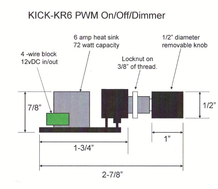 LED dimmer dimensions